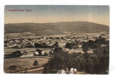 Nový Jičín Odry panorama 1920
