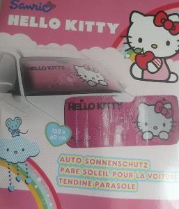 Sluneční clona Hello Kitty na čelní sklo 130x60cm