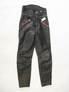 Kožené kalhoty vel.? obvod pasu: 70 cm (4859)