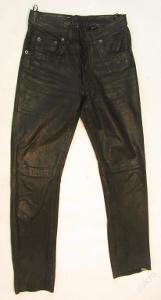Kožené broušené kalhoty vel.29 - pas:74cm (5638)