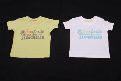 Dvě trička dětská (velikost 68)