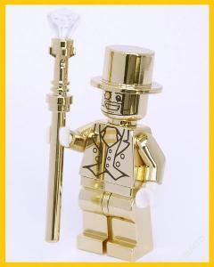 LEGO figurka Mr. GOLD chromovaný - CUSTOM