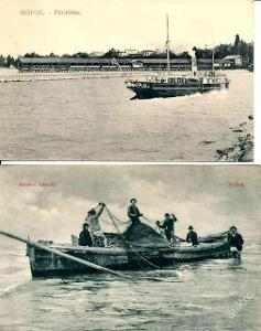 Maďarsko , Siófok 2x - loď