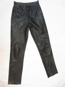 Kožené kalhoty vel.29 GIPSY - obvod pasu: 74 cm