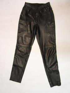 Dámské kožené kalhoty - v.38 - obvod pasu: 72 cm