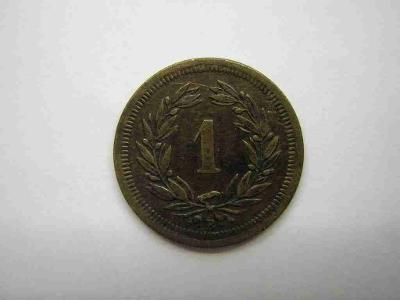 Švýcarsko 1 Rap 1876 B                      vzác
