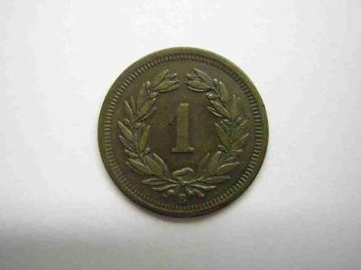 Švýcarsko 1 Rap 1903 B vzácný rok