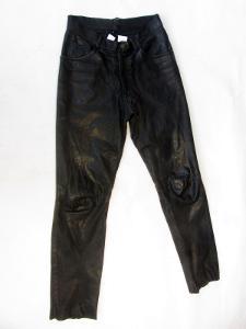 Kožené kalhoty W 33 L 32 - obvod pasu: 82 cm