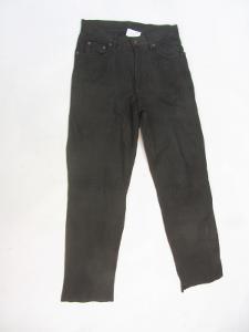Kožené broušené kalhoty - obvod pasu: 80 cm (853