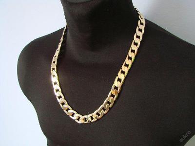 ŘETÍZEK pokrytý vrstvou zlata 65cm ___ šířka 1,3cm