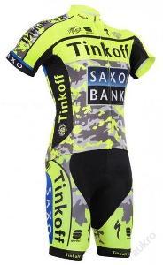 komplet cyklo dres 2015 Tinkoff Tour de France