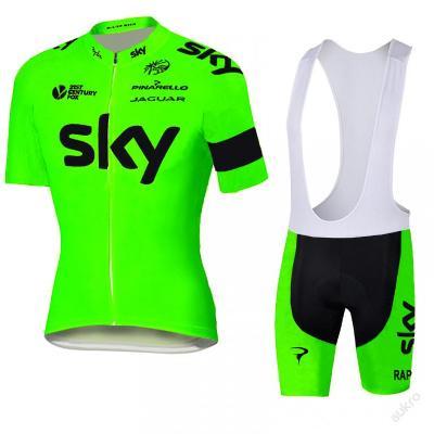 letní komplet cyklo dres 2016 SKY fluo - vel. ???