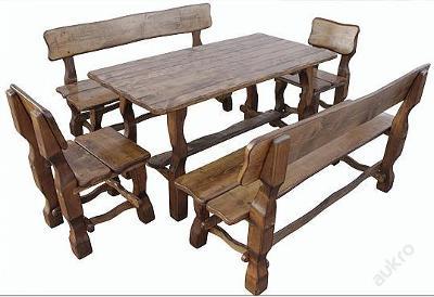 dřevěný zahradní nábytek set 1S+2L+2K euromeb 1