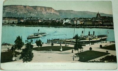 Švýcarsko - Ženeva, Genéve Le Port 1905