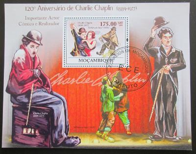 Mozambik 2009 Charlie Chaplin Mi# Bl 267 10€ 1306
