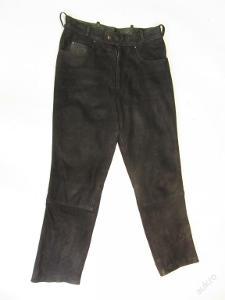 Broušené kožené kalhoty v. 46 - obvod pasu: 74 c