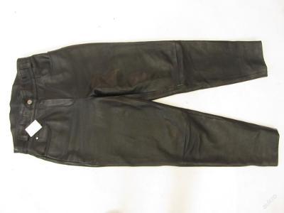 Kožené kalhoty vel. XL - obvod pasu:78 cm - (553