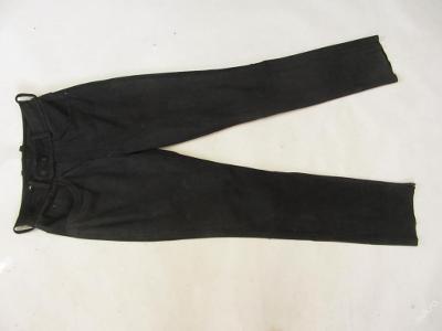 Broušené kožené kalhoty vel.94- obvod pasu: 74 c