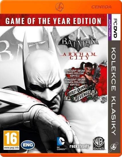 BATMAN ARKHAM CITY - GOTY EDITION - NOVÁ - PC DVD - Hry