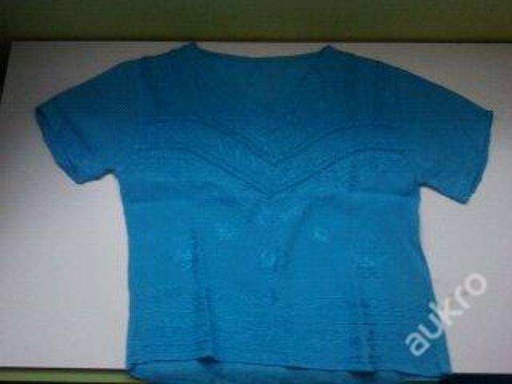 DÍVČÍ  TRIČKO VISKÓZA modré - Dámské oblečení