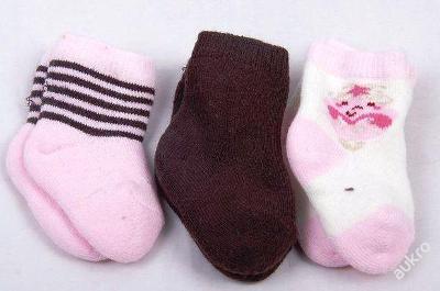 Ponožky dětské 3 páry, vel.new born (art. č. 13)