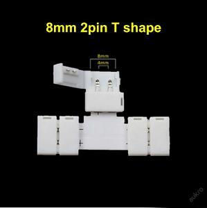 Spojka konektor T pro jednobarevný LED pásek 8 mm