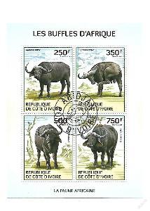 Pobřeží Slonoviny  Mi.1584-7 Buvoli
