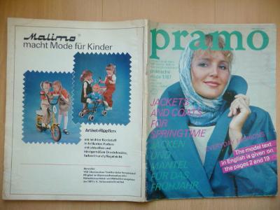 Německý časopis - PRAMO - praktische mode 1/1987