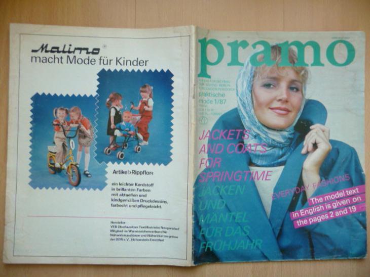 Německý časopis - PRAMO - praktische mode 1/1987 - Časopisy