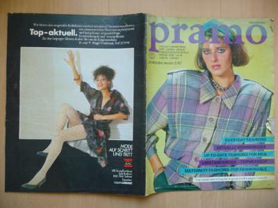 Německý časopis - PRAMO - praktische mode 2/1987