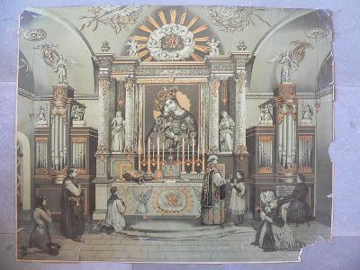 VELKA SVATE OBRAZ  ASI ROKU 1890  63 cm x 50 cm