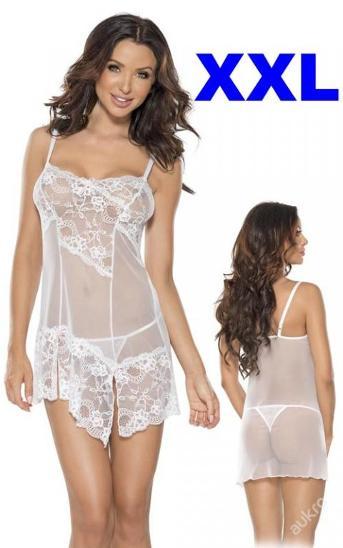 Erotická souprava DRESS& STRING size XXL _6568 - Erotické prádlo, obuv