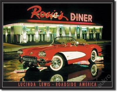 Retro reklamní cedule-Lewis - Rosie's Diner