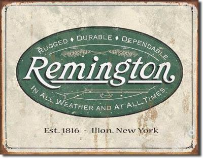Retro reklamní cedule-REM - Weathered Logo