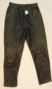 Kožené kalhoty vel. 38 - obvod pasu:72 cm(5604)