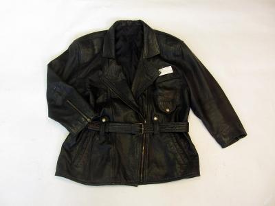 Kožená delší dámská bunda vel. 42 - patina