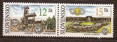 Slovensko 2001 kat.č.Mi391+392/Zb231+232