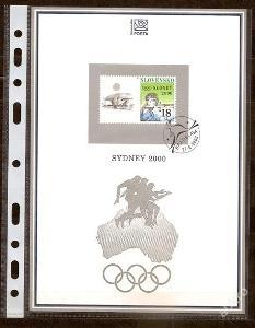 Slovensko 2000 NL44 - nálepný list