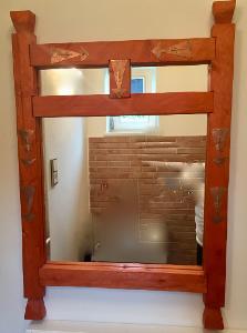 Velké zrcadlo + rám na malé zrcadlo