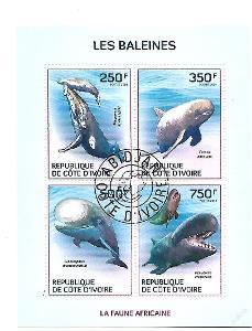 Pobřeží Slonoviny  Mi.1579-82 Velryby