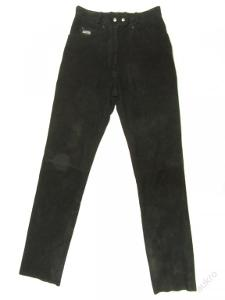 Dámské broušené kožené kalhoty - obvod pasu: 72
