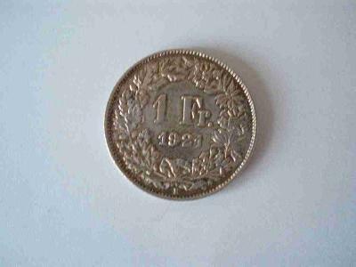 Švýcarsko 1 frank 1921