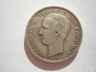 Řecko 1 drachma 1874 A