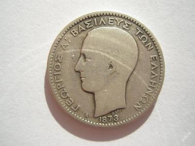 Řecko 1 drachma 1873 A