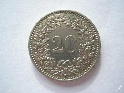 Švýcarsko 20 rap 1900