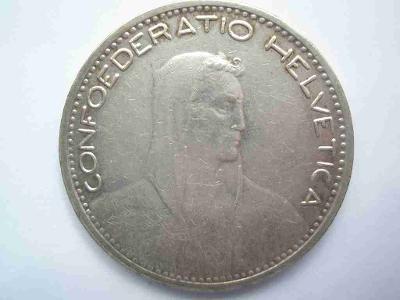 Švýcarsko 5 frank 1923 B  vzácný