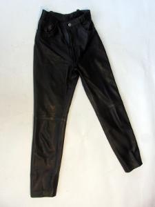 Kožené kalhoty  vel. 31 - pas: 66 cm - silná kůž