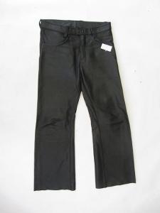Kožené kalhoty - obvod pasu: 82 cm - silná kůže