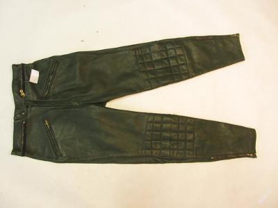 Dámské kožené kalhoty - obvod pasu: 72 cm(5684)