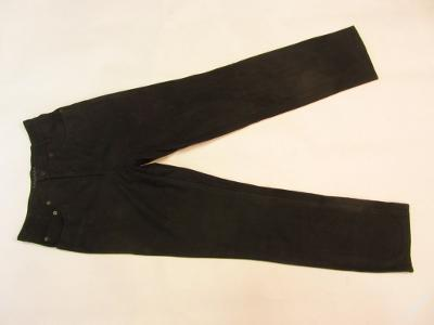 Kožené hnědé broušené kalhoty vel.30 - pas: 74 c